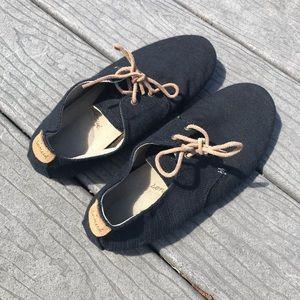 Sanuk Bianca TX sneaker black slub size 7